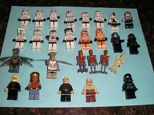 LEGO Star Wars Minifigure lot of (67) figures, capes, weapons, and more.