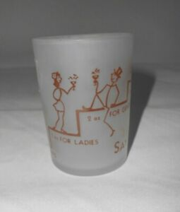 Vintage Frosted Satin Shot Glass Say When! 4 Ounce For Jackasses