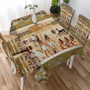 Egypt Africa Egyptian Ancient Rectangle Tablecloth Chair Covers Dining Table Set