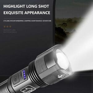 LED Taschenlampe 10000 Lumen 5 Modi XHP50 Zoom Aufladbare Torch USB Super Hell
