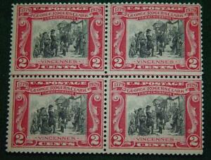 1929 GEORGE ROGERS CLARK Stamp Block  Scotts# 651  2 Cent  vF - Mint Unhinged