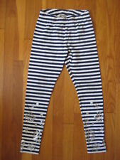 Lands End Girls Cotton Tights size Medium size 8 Lot of 2 Pairs Pink /& Striped
