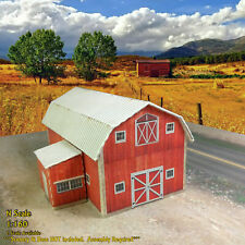 N Scale Building - 23' Tall Medium Size Barn Coverstock Paper Pre Cut Kit