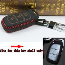 Thread Leather Keyfob Key Fob Holder Cover Case Shell For 3B IX-25 IX-35 Elantra