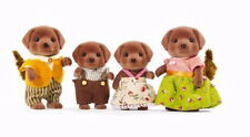 Calico Critters #CC1454 CHOCOLATE LABRADOR DOG FAMILY New in Box