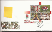 GB FDC 2003 England Winners m/s