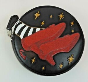 Coach WIZARD OF OZ Round Coin Case Purse RUBY SLIPPERS NWT