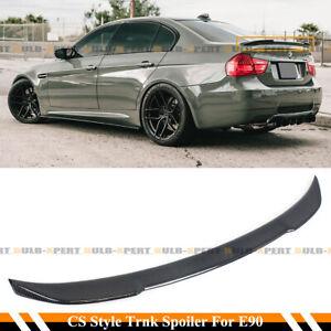 FOR 2006-2011 BMW E90 3 SERIES M3 SEDAN CS STYLE CARBON FIBER TRUNK SPOILER WING