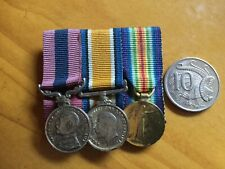 WW1 miniature medals..AIF/British...Gallantry