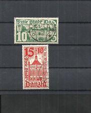 Danzica, Gdansk 1935 Michel numero: 256 - 258 o, timbrato o, valore di Catalogo € 7,50