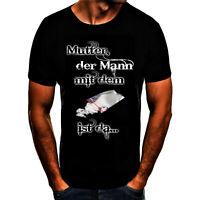Mutter der Mann mit dem Koks ist da Falco Fun Spruch T- Shirt