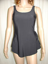 BEACHCOMBER Black Front Skirt Swimsuit Fit Size 12 36B 36C Padded Cups Swimwear