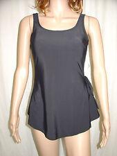 BEACHCOMBER Black Front Skirt Swimsuit Fit Size 12 36B 36C Padded Cups Swimwear