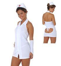 Travieso Enfermera Disfraz de 4PC 10-12 Reino Unido Regalo De Navidad Hen noche médico