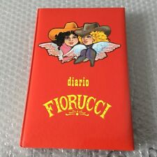 VINTAGE 80s# FIORUCCI  OFFICIAL VINTAGE DIARY DIARIO RED VERSION RARE#NUOVO