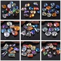 Lot Shapes Crystal Glass Faceted Mixed Loose Beads lot for Jewelry Making DIY