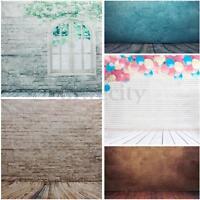5 Styles Brick Wall Studio Backdrop Wood Floor Vinyl Photography Prop Background
