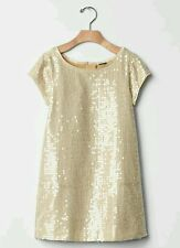 Gap Kids NWT Gold Sequin Shift Party Holiday Dress XL 12 Plus + $68