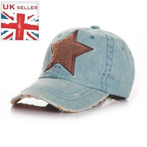 Sport jean brushed Star kids baseball sunhat cap Coffee STAR