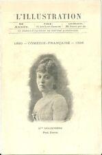 L'Illustration Programme théatre Comédie Française 1896 Mlle Reichenberg
