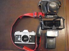 CANON FT QL 35 mm CAMERA W / 3 LENSES & MORE