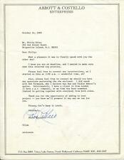 CHRIS COSTELLO SIGNED LETTER ON ABBOTT & COSTELLO STATIONARY AUTOGRAPH