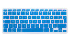 French AZERTY Silicone EU Keyboard Cover Skin Protector For Macbook Air 11.6 11""
