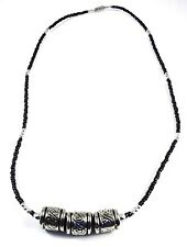in Silver Plated Collar Gb Usa New Necklace Acrylic & Seed Beads No Stone 21
