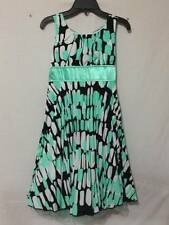 Girls size 10 Sequin Hearts pleated dress fully lined tulle green sleeveless