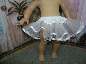 "White Nylon Crinoline Net Slip Petticoat 18"" Doll clothes fits American Girl"