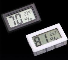 LCD Digital Reloj Medidor De Interior Termometro Higrometro Humedad Mini