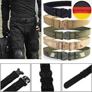 Men Military Tactical Belt Adjustable Outdoor Heavy Duty Combat Nylon Belt 130cm