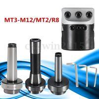 MT3-M12 MT2 R8 Morse Taper + Lathe Boring Head 2'' 50mm Boring Head Bar Holder