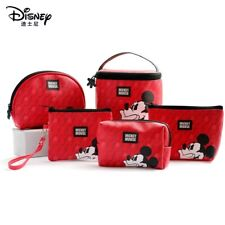 Fashion Disney Mickey Mouse Red PVC Make Up Cosmetic Novelty Travel Bag