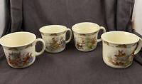4 Vintage Royal Doulton Mugs Bunnykins Cups Mugs England Fine Bone China