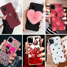 iPhone 11 Pro Max Cute Love Heart Case Quicksand Bling Glitter Girls Phone Cover