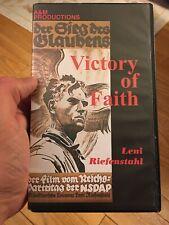 Victory Of Faith Leni Riefenstahl Vhs 1933 German Ww2 HTF Rare Tape Fast Ship