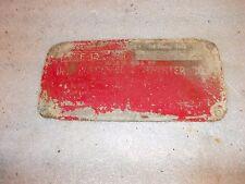 1937 McCormick Farmall F12 tractor Original IH Serial Number tag #FS 93730