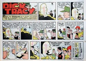 Dick Tracy by Chester Gould - large half-page color Sunday comic August 3, 1975