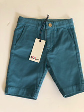Boys Designer Teal Chino Shorts Age 2-3  ABC123me  New  RRP £35.00