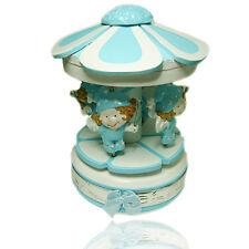 Giostrina carillon celeste forma fiore con angeli fatati in legno con fascia ag