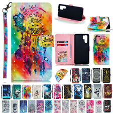 For Huawei P30 P30 Pro Mate 20 Nova 4 Patterned Leather Wallet Stand Cover Case