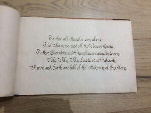 Religious Antique Manuscript Christianity Original Latin English Victorian Album