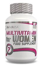 BIOTECH USA MULTIVITAMIN FOR WOMEN - 60TABLETS VITAMINS COMPLEX BEST FORMULA !