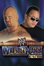 "Wrestlemania 17 Poster 12""x18"" Wrestling WWE NXT THE ROCK STONE COLD"