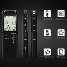 16GB Diktiergerät Tragbar Aufnahmegerät Audio Sound Voice Recorder MP3-Spieler
