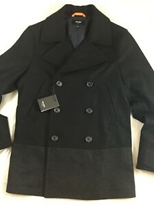 JACK SPADE   THE DIPPED WOOL  PEACOAT NAVY 400-SMALL)$ 598