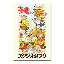 All Ghibli Hot Movies Totoro Kiki Art Silk Canvas Film Poster Print 24x36 inch