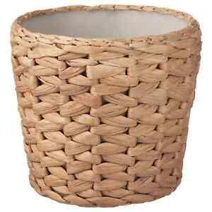 IKEA FRIDFULL Plant Pot Water Handwoven Decoration Hyacinth & Plastic Inner Pot
