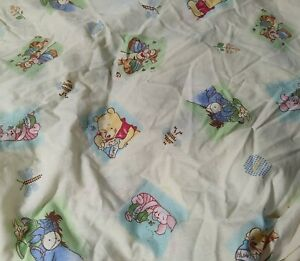 Winnie The Pooh And Friends Fitted Crib Sheet Yellow Honey pot & Bees